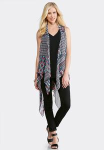 Plus Size Mixed Patchwork Vest