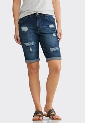 Paisley Patchwork Denim Shorts at Cato in Brooklyn, NY | Tuggl
