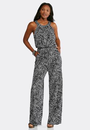 Black And White Aztec Jumpsuit at Cato in Brooklyn, NY | Tuggl