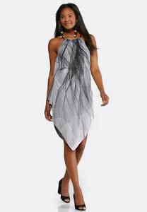 Plus Size Braided Halter Trapeze Dress