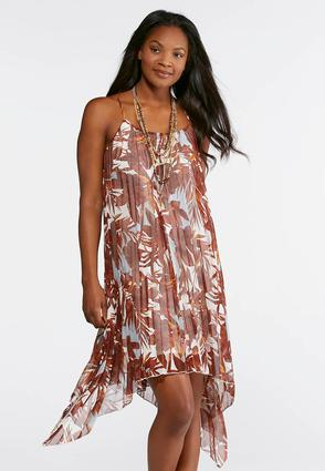 Pleated Hawaiian Floral Dress