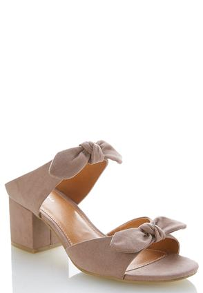 Faux Suede Bow Mules | Tuggl