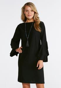 Plus Size Bell Sleeve Knit Dress