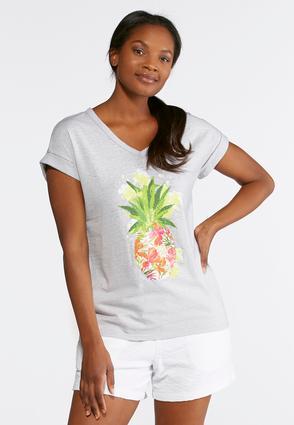 Embellished Pineapple Tee | Tuggl