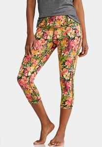 Cropped Tropical Bloom Leggings