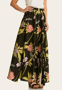 Leafy Floral Maxi Skirt