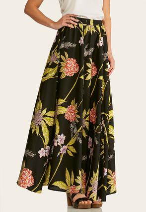 Plus Size Leafy Floral Maxi Skirt at Cato in Sparta, TN | Tuggl
