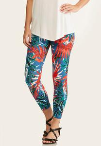 Cropped Palm Leggings