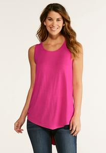Solid Pointed Hem Tank