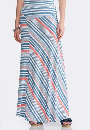 Plus Size Mixed Stripe Maxi Skirt at Cato in Mcminnville, TN | Tuggl