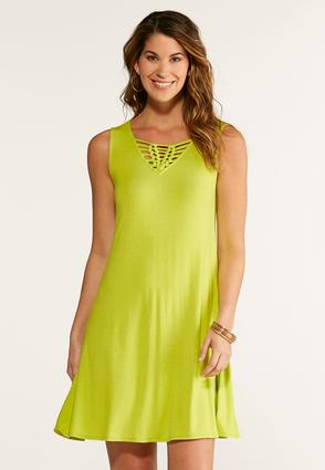 Braid Front Knit Swing Dress at Cato in Brooklyn, NY | Tuggl