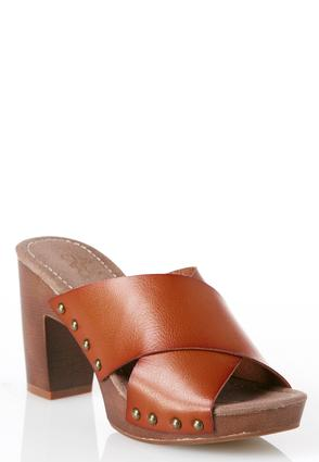 Cross Band Platform Mules at Cato in Brooklyn, NY | Tuggl