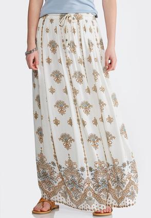 Plus Size Gauze Shell Floral Maxi Skirt at Cato in Philadelphia, PA | Tuggl
