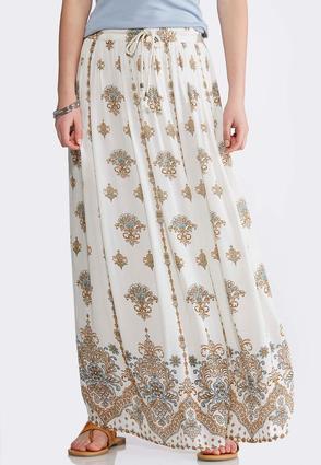 Gauze Shell Floral Maxi Skirt | Tuggl