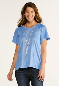 High-Low Crochet Tee