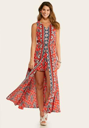 Paisley Maxi Romper at Cato in Brooklyn, NY | Tuggl