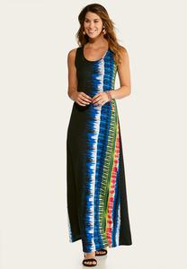 Petite Braided Strap Tie Dye Maxi Dress