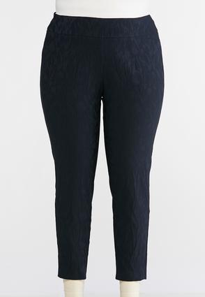 Plus Size Tonal Tulip Pull-On Pants | Tuggl