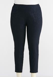 Plus Size Tonal Tulip Pull-On Pants