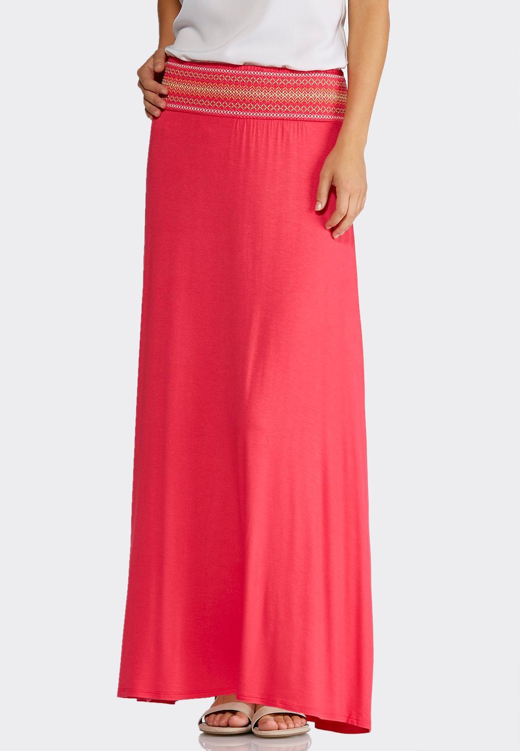 plus size smocked waist maxi skirt maxi cato fashions