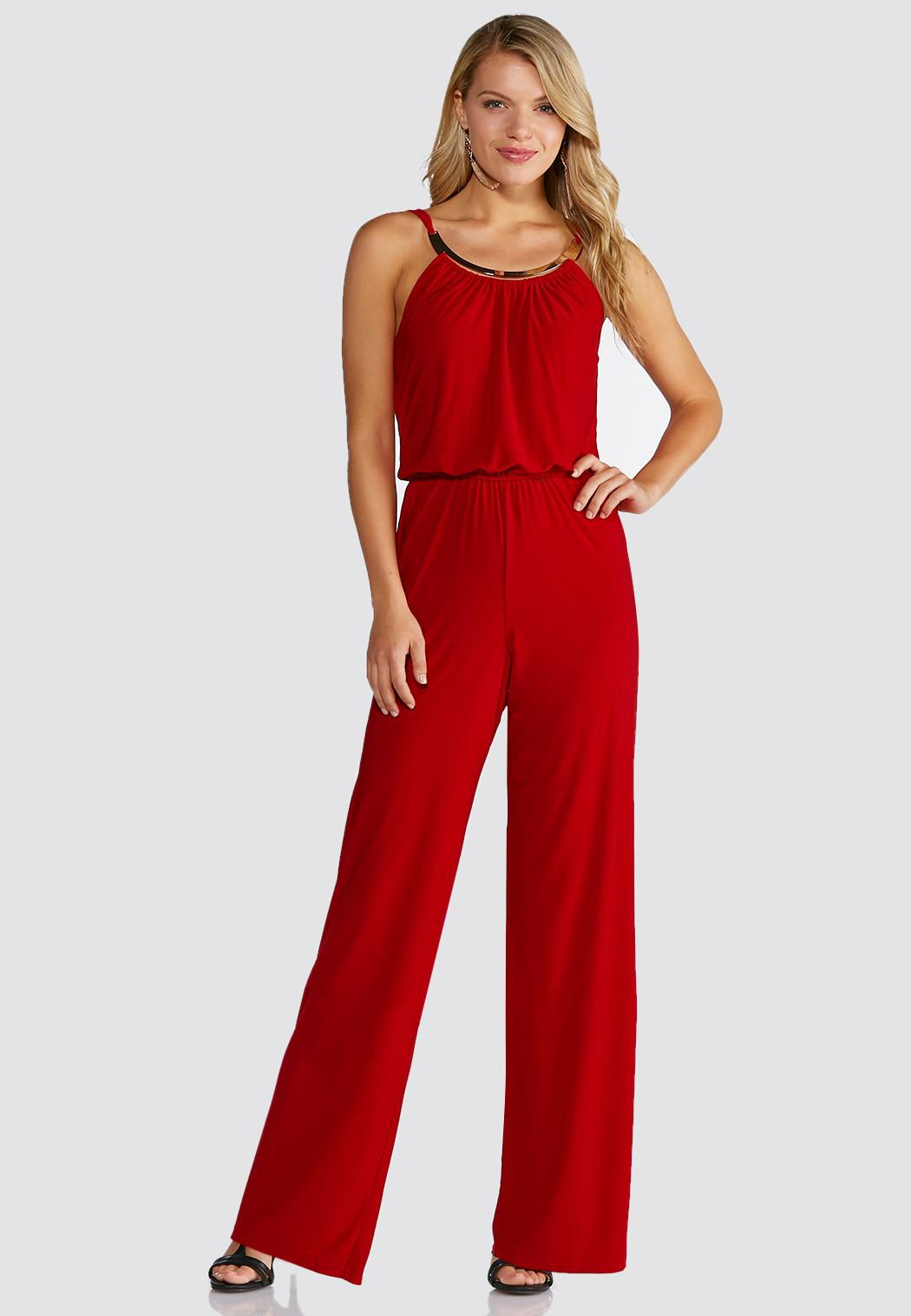 Red Embellished Jumpsuit Dresses Cato Fashions - What is invoice payment plus size online stores
