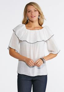 Flounced Gauze Top