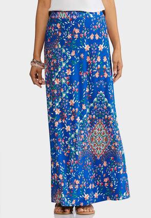 Turquish Sea Maxi Skirt | Tuggl