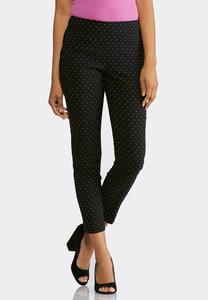 Multicolored Speckled Pull-On Pants