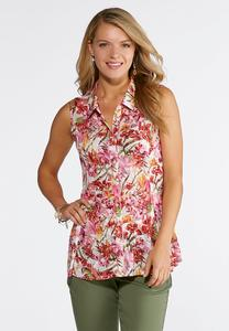 Plus Size Floral Bouquet Swing Tank