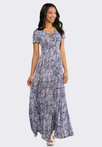 Petite Embellished Seamed Maxi Dress
