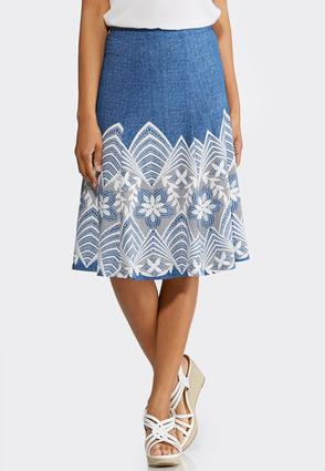 Floral Puff Print A-Line Skirt | Tuggl