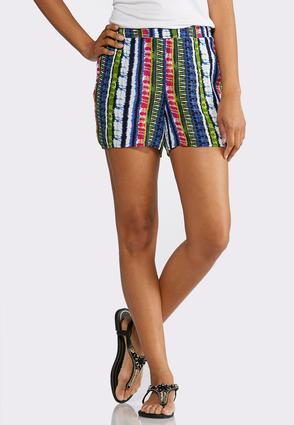 Tie Dye Smocked Waist Shorts | Tuggl