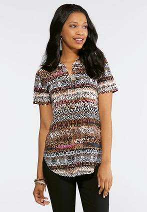 Striped Animal Print Top at Cato in Brooklyn, NY   Tuggl