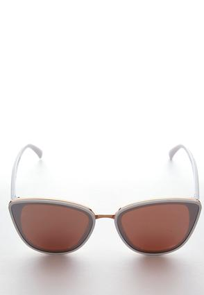 White Rim Cateye Sunglasses | Tuggl