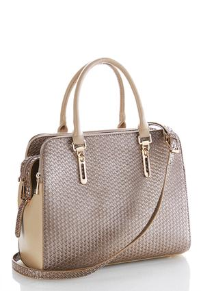 Woven Effect Textured Satchel at Cato in Brooklyn, NY | Tuggl