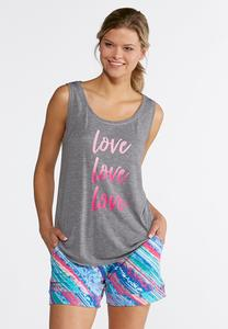 Plus Size Love Verbiage Tank