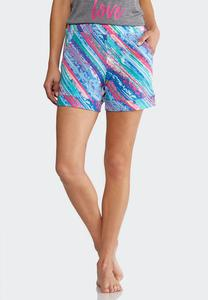 Brushed Multicolored Athleisure Shorts