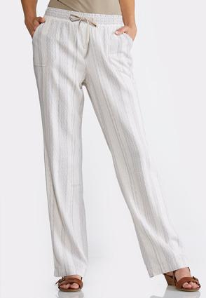 Geo Striped Linen Pants at Cato in Lewisburg, TN | Tuggl
