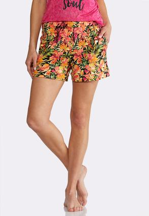 Floral Athleisure Shorts
