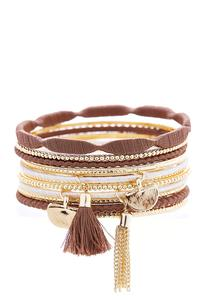 Thread Wrapped Multi Bangle Set