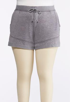Plus Size French Terry Athleisure Shorts | Tuggl
