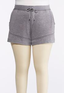 Plus Size French Terry Athleisure Shorts