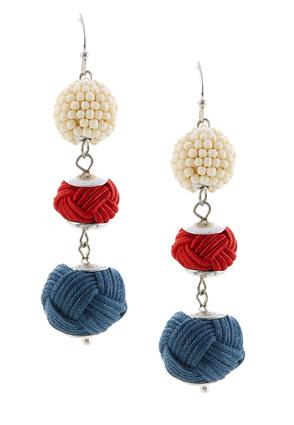 Triple Mixed Textured Ball Earrings