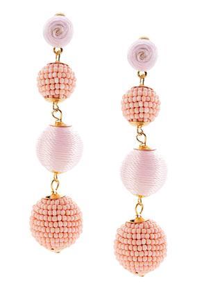Seed Bead Tiered Ball Earrings | Tuggl