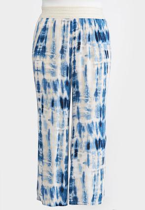 Plus Size Tie Dye Gauze Palazzo Pants | Tuggl