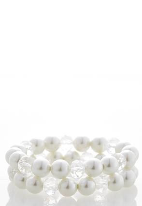 Round Pearl Stretch Bracelet | Tuggl