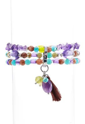 Violet Stretch Bracelet Set | Tuggl
