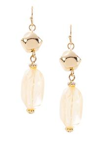 Sand Stone Dangle Earrings