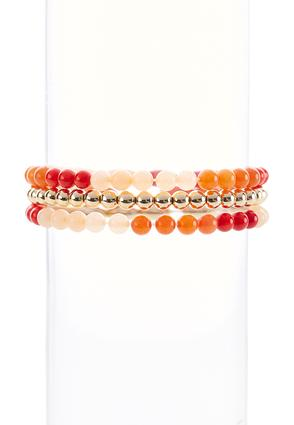 Semi-Precious Stretch Bracelet Set | Tuggl