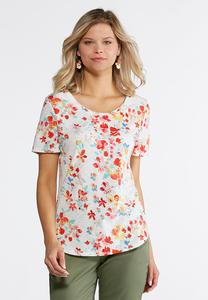 Bouquet Scoop Neck Tee